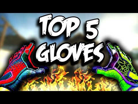 ТОП 5 САМЫХ КРАСИВЫХ ПЕРЧАТОК В CS:GO (Glove Case)
