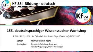 2019 03 07 PM Public Teachings in German - Öffentliche Schulungen in Deutsch