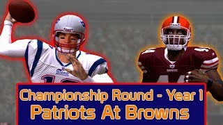 ESPN NFL 2K5 - Cleveland Browns Vs New England Patriots - Championship Round
