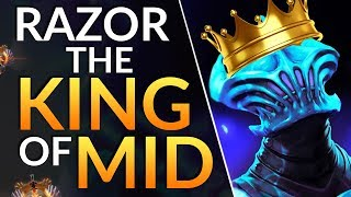 The TRICK to go GOD MODE as MID RAZOR: Pro Midlane Tips to RAMPAGE   Dota 2 Gameplay Guide