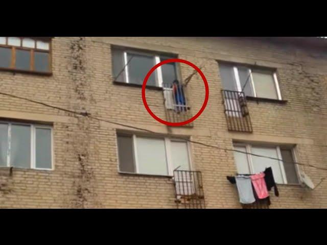 Мать в наказание вывела на балкон ребенка стоять и мерзнуть..