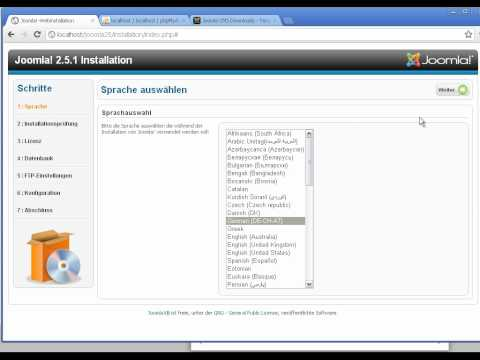 Joomla 2.5 - Tutorial,Teil 01: Installation