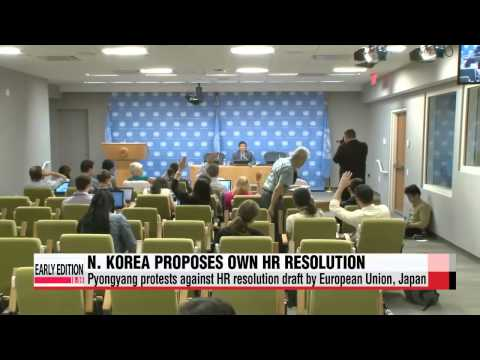 N. Korea proposes its own human rights resolution to UN   북한, 우리도 자체 인권 결의안 내겠다