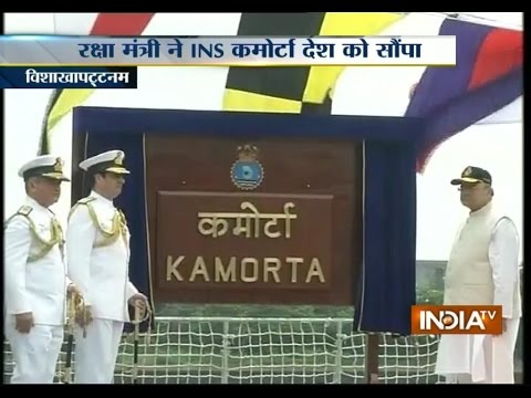 Defence Minister Arun Jaitley Commissions Warship INS Kamorta
