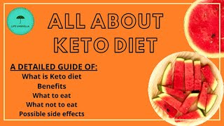 ALL ABOUT KETO DIET |  Detailed Guide of Keto Diet | Keto food, Benefits, Side effects of Keto Diet