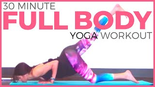 30 minute Full Body Power Yoga Workout | SarahBethYoga