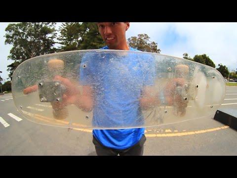 PLEXIGLASS SKATEBOARD! |  YOU MAKE IT WE SKATE IT EP 5