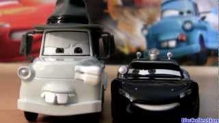 Mater Private Eye with BigD CARS TOON Lieutenant Lightning McQueen P.I. Disney Pixar Diecast toys