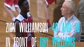 Zion Williamson DROPS 40 Pts and 10 Rebs In Front Of Roy Williams Full Highlights