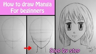 How to draw manga girl for beginners - step by step tutorial