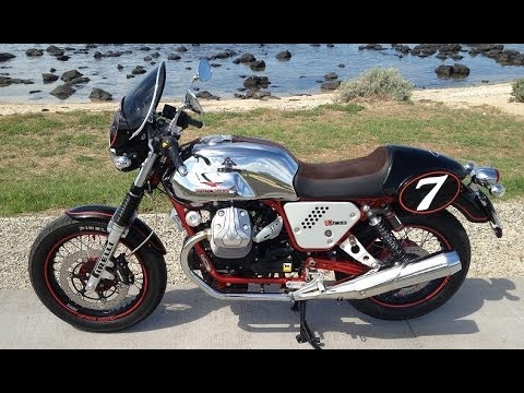 Moto Guzzi v7 racer review vs Moto Guzzi Nevada 750 engine sound