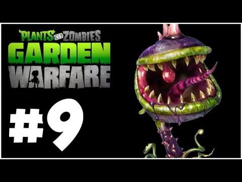 Plants vs. Zombies Garden Warfare Walkthrough - CHOMPER!! Part 9 (Xbox One 1080p HD)