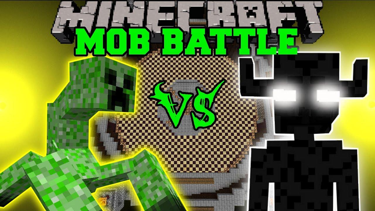 MUTANT CREEPER VS ENDER GOLEM MInecraft Mob Battles