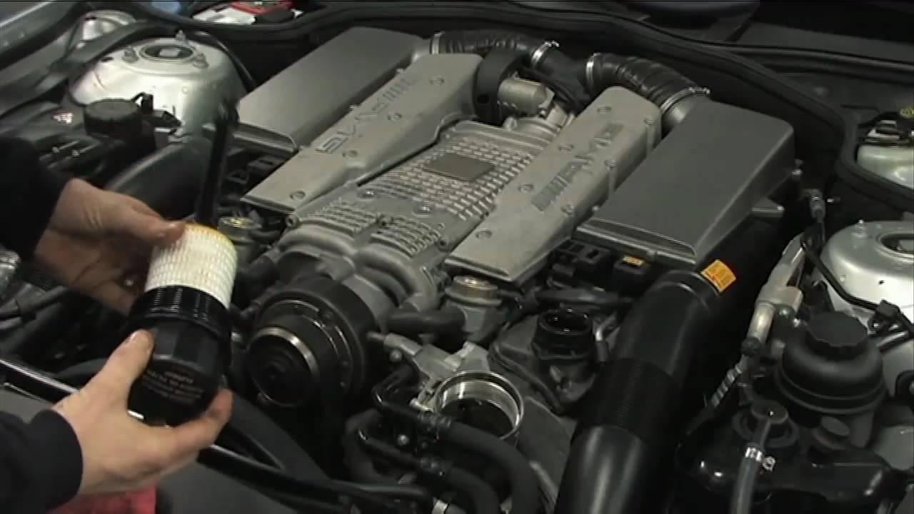 Benzwerks Sl55 Amg Mercedes Oil Change Youtube
