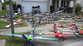 RCRedBaron 100+ RC Airplanes and Helicopters in Yard Collection - March 29-2012