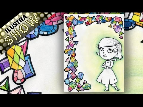 Dibujar a Desagrado de IntensaMente y Joyas Tutorial ILUSTRA SHOW
