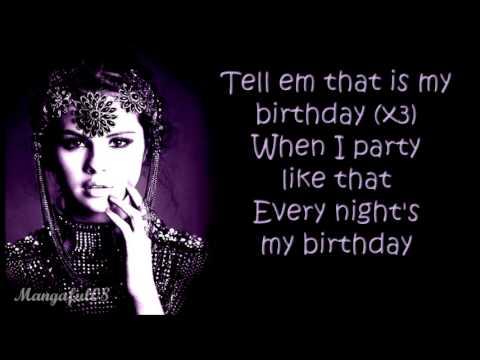 Selena Gomez - Birthday [Lyrics]