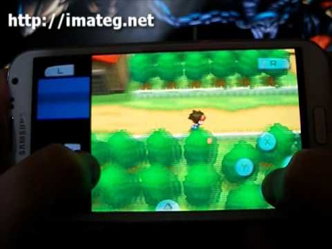 Pokemon Negro 2 (Nintendo DS) gameplay Samsung Galaxy Note 2