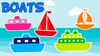 Learn Colors with boats, Teach Colours, Baby Toddler Preschool
