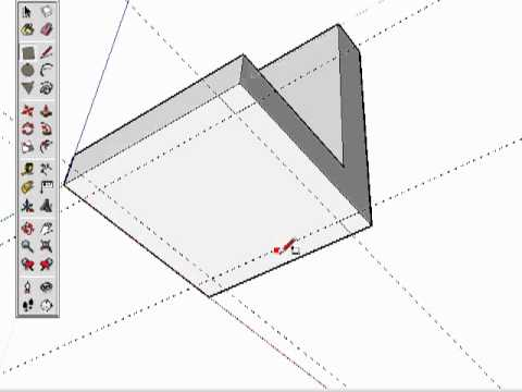 06 sketchup cr er une chaise youtube for Comment dessiner une chaise