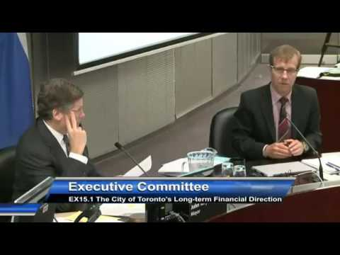 John Tory Questions Peter Wallace on Revenues vs Cost Savings.