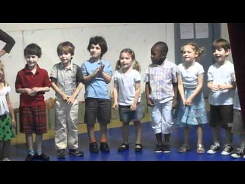 Fadi with his pre k class - music show in Lyceum Kennedy International School -2010