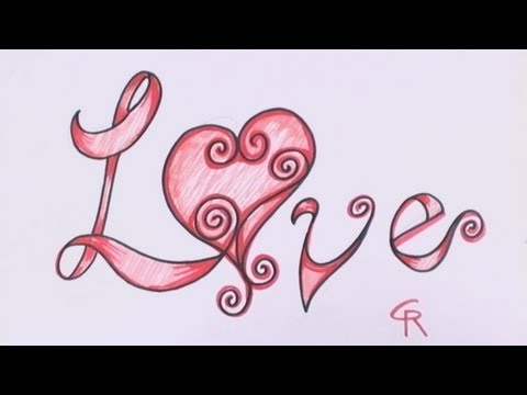How To Draw Graffiti Hearts How to draw love in fancy