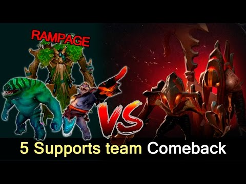 5 supports team comeback vs Megacreeps and Spectre — Dota 2