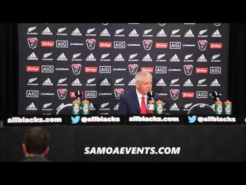 Warren Gatland  Press Conference Post match Wellington