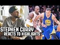 Stephen Curry Reacts To Stephen Curry Highlights!