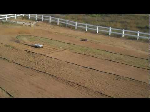 HPI Baja So-Cal 1/5 Scale HPI Baja RC Bashing and Racing on backyard Track....