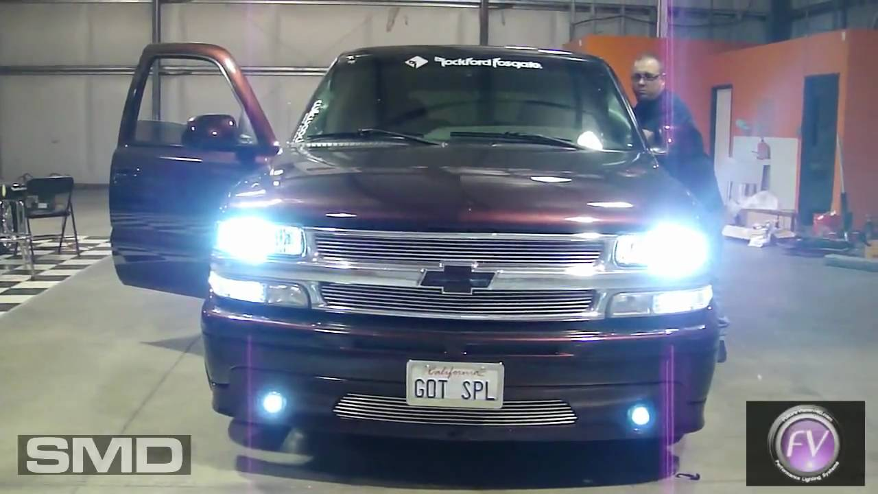 7000k Hid Projector Fog Driving Lights Smd Chevy Tahoe