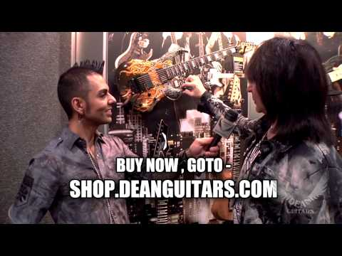 Dean Guitars Arist Michael Angelo Batio with his NEW Dean Guitars Signature MAB7 7-String Warrior.