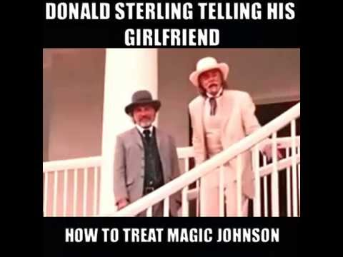 Donald Sterling telling his girlfriend how to treat Magic Johnson