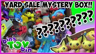 What's Inside the Yard Sale Mystery Box of Fast Food Toys!? Disney, Pokemon & More! | Bin's Toy Bin