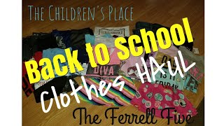 The Children's Place Back To School Clothes HAUL!! | TCP | Kids Clothing HAUL