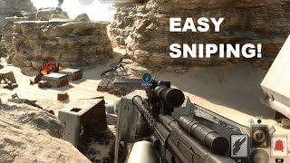 EASY Battlefront Sniping Spots Tips and Tricks! (Tatooine Maps)