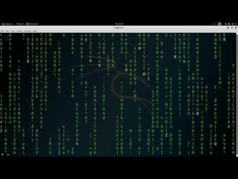 What did hacker do in movies(cmatrix tutorial in kali linux)