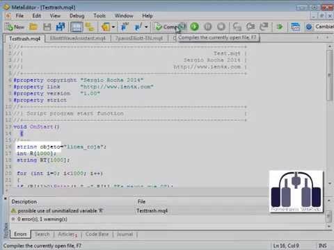 ¡Inicializa las variables en MQL4!