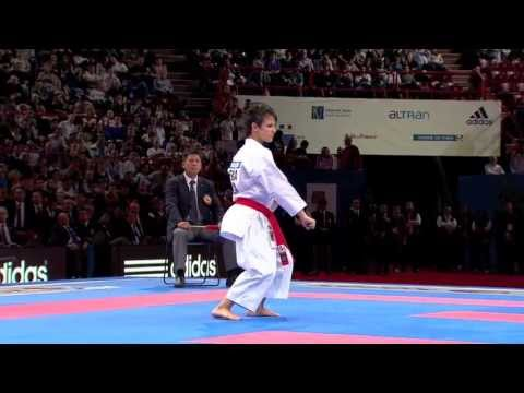 Final Female Kata. Sandy Scordo of France. 21st WKF World Karate Championships Paris 2012