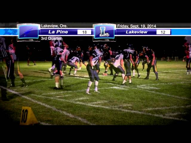 LHS football highlights: La Pine vs. Lakeview 9-19-2014