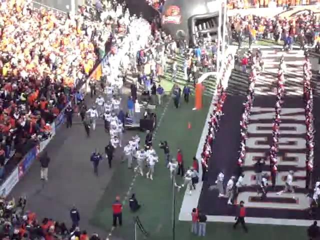 Oregon Ducks enter Reser Stadium for the civil war game 12-04-2010