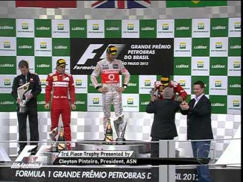 Formula 1 2012 Gp Interlagos - Pódio - 25/11/2012 - Vettel Campeão - por: TV Globo