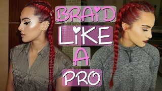 HOW TO FRENCH/DUTCH BRAID for beginners