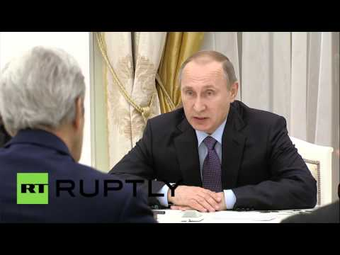 Russia: Putin meets Kerry to discuss Syria and Ukraine conflicts