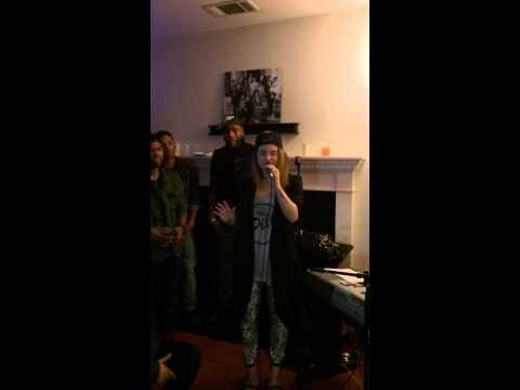 Jojo singing SWV's Weak and Rain at Taco Tuesday !