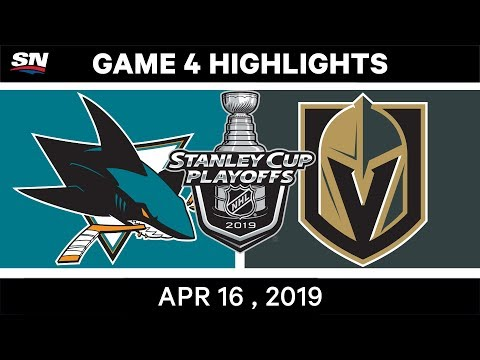 NHL Highlights | Sharks Vs Golden Knights, Game 4 – April 16, 2019