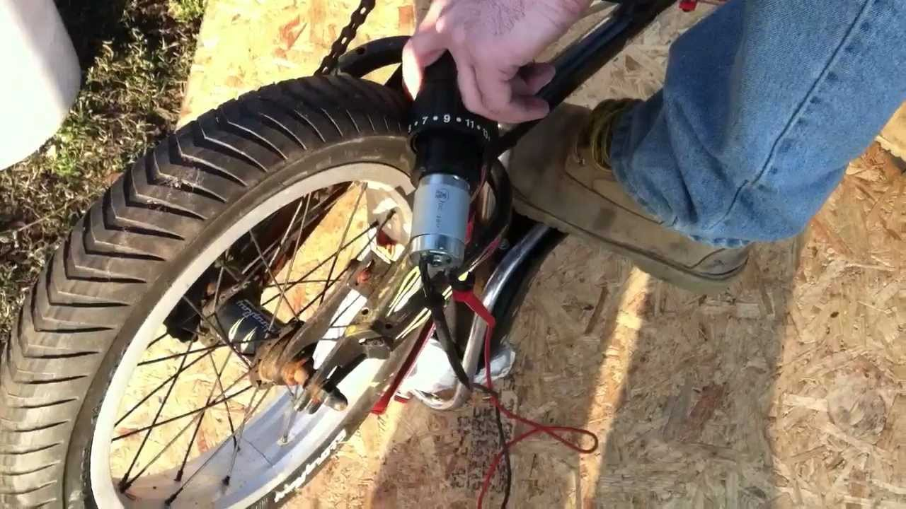 how to build a bicycle generator with a cordless drill