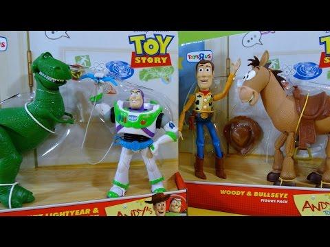 Toy Story Juguetes de Andy Woody con Bullseye y Buzz Lightyear con Rex