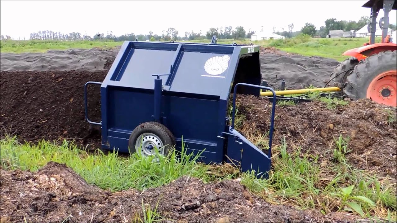 Compost Solutions Compost Turner Youtube
